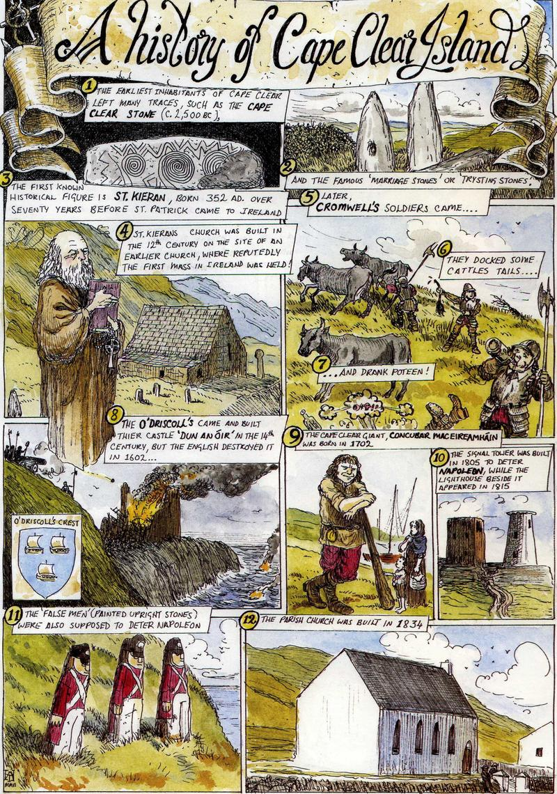 Cartoon History of Cape Clear Island by Cape Clear Ferry