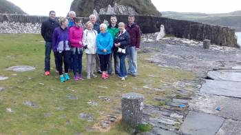 Family of John K Cotter at Keenleen Pier, Cape Clear