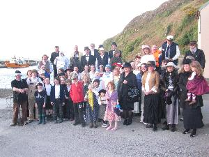 Assembly at Titanic American Wake on Cape Clear Island