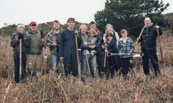 2103 Tree Planting Group on Cape Clear Island