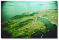 Cape Clear Island from  the air